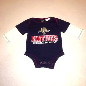 NHL Florida Panthers Hockey Onesie Size 0-3 Months